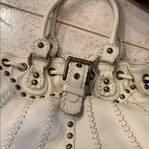 Isabella Fiore cream leather bag
